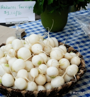Hakurei Turnips, developed in Japan in the 1950s, are reportedly crisp and sweet.